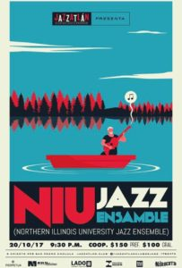 NIU Jazz Ensemble Mexico poster