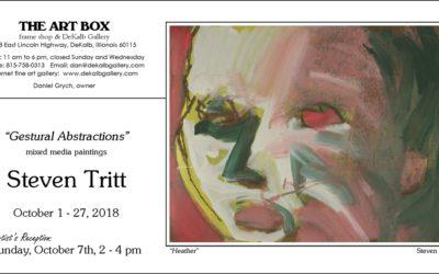 "NIU Art and Design alum Steven Tritt diplays ""Gestural Abstractions"" at The Art Box in DeKalb"