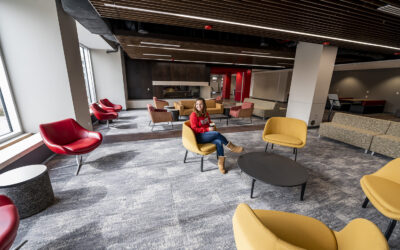 Renovated Holmes Student Center is open for business, leisure, meetings, studying, etc…
