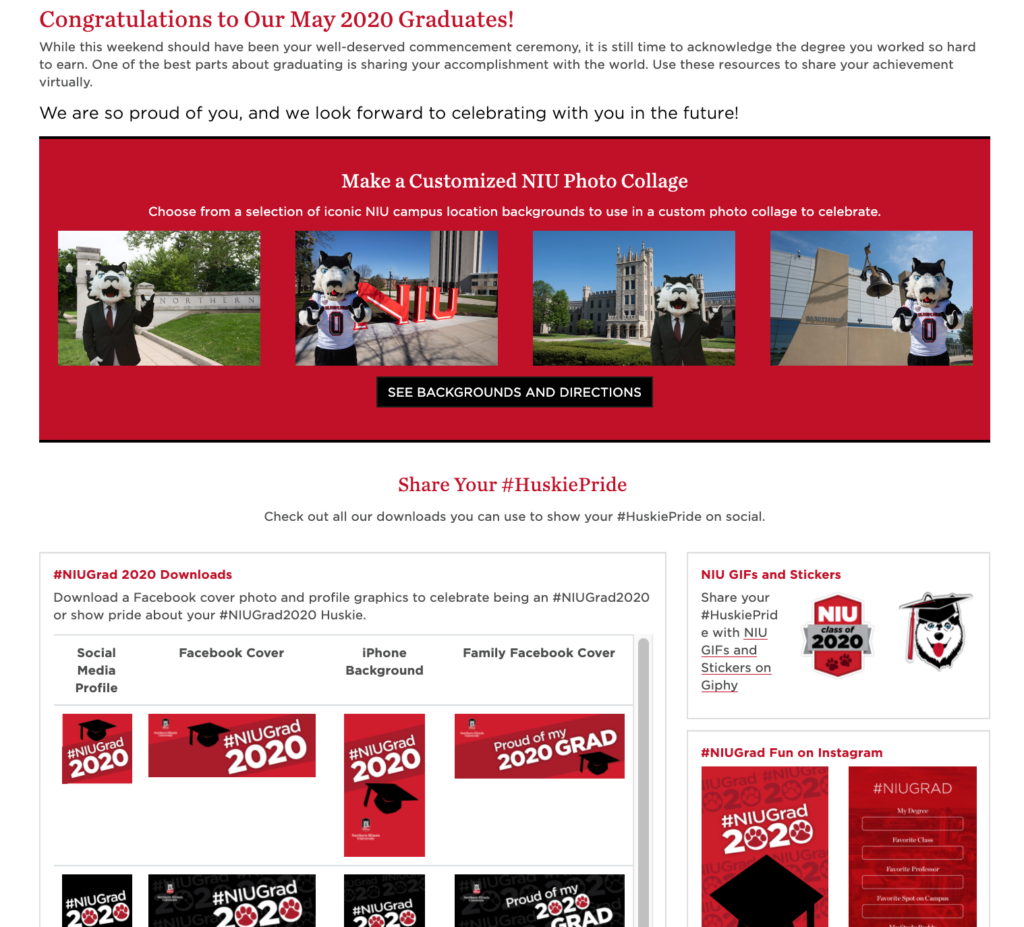 Virtual Commencement Materials