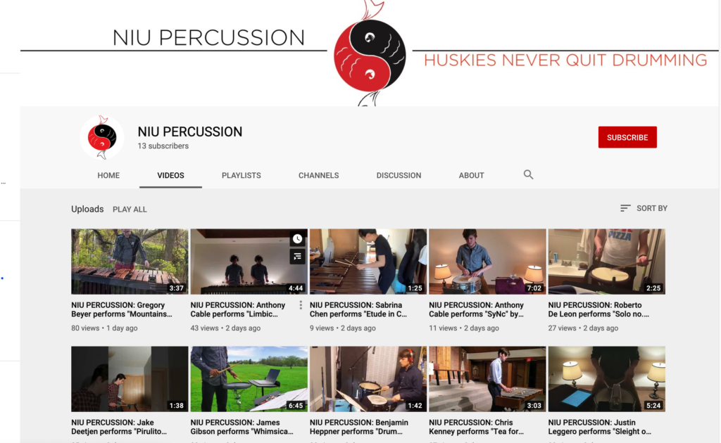 Percussion YouTube channel