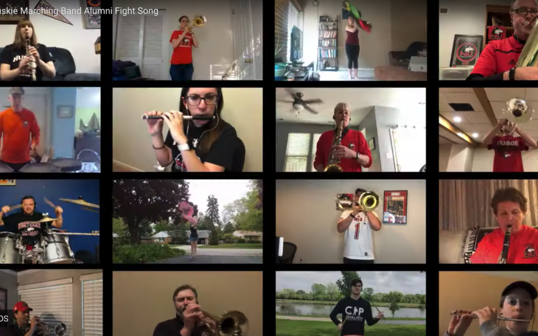 Huskie Marching Band alumni present the virtual fight song
