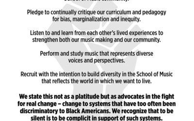 School of Music Black Lives Matter statement