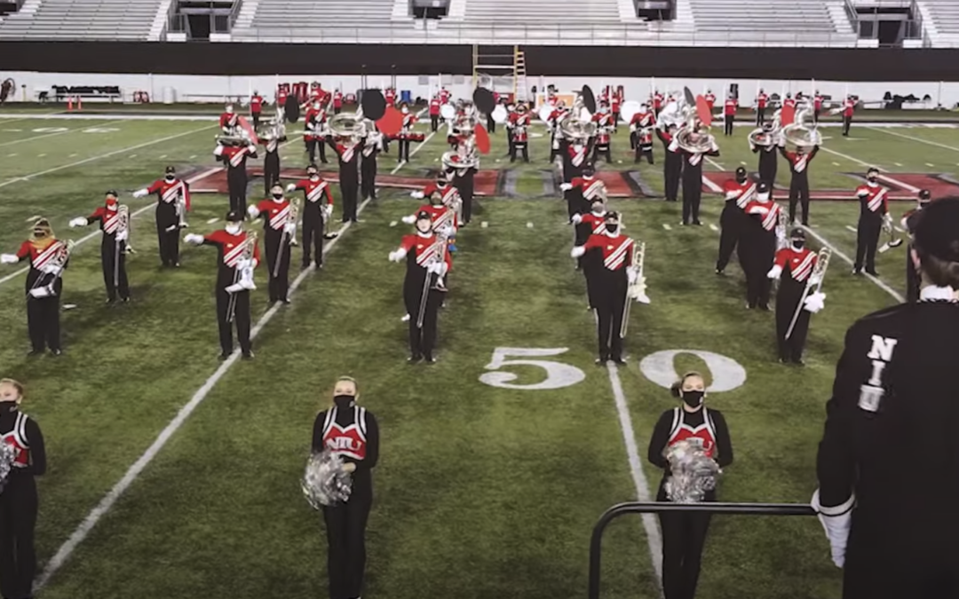 """Follow Us Home"" Huskie Marching Band 2020 Homecoming performance"