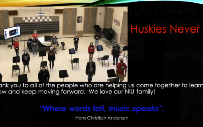University Chorus creates a 'musical postcard' for the campus