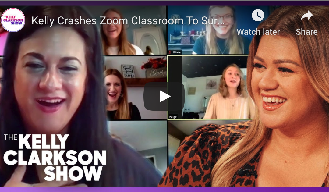 "Kelly Clarkson ""Zoom crashes"" NIU Music Education alumna's online class"