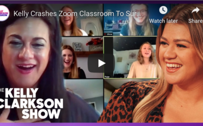 """Kelly Clarkson """"Zoom crashes"""" NIU Music Education alumna's online class"""