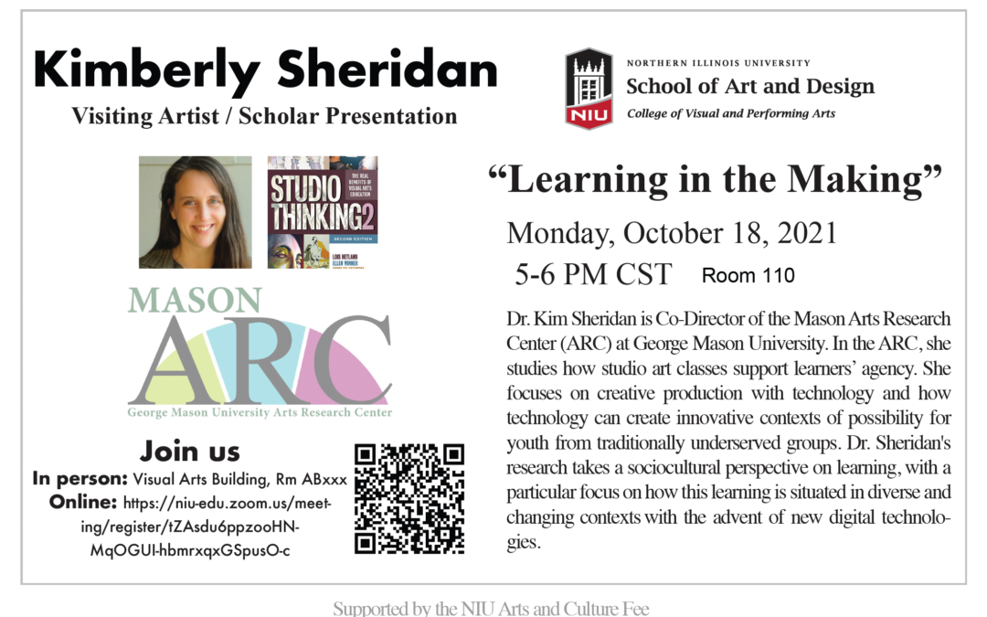 Art and Design presents visiting artist/scholar presentation on Learning in the Making
